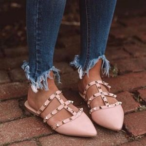Shoes - MUST HAVE Stud Flats - BLUSH